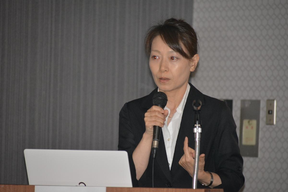 緩和ケアで鍼灸治療が果たす役割について症例を基に講演した増山祥子准教授