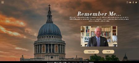 セントポール大聖堂などが開設した、新型コロナウイルスに感染し亡くなった人々を追悼する専用サイト「リメンバー・ミー」(英PA通信=共同)