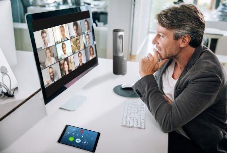 米新興企業「ズーム・ビデオ・コミュニケーションズ」のビデオ会議システム(同社提供・共同)