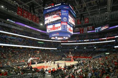 NBAでロケッツを相手に行われたウィザーズの本拠地開幕戦=2019年10月、ワシントン