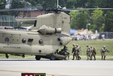 韓国・平沢の米軍基地キャンプ・ハンフリー=2019年6月(共同)